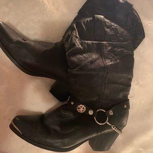 Dingo Supple Pigskin Cowgirl Boots
